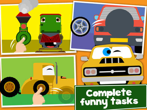 Cars, Trains and Planes Cartoon Puzzle Games Free screenshot 9
