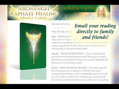 Archangel Raphael Healing Oracle Cards - Doreen Virtue, Ph.D. screenshot 6