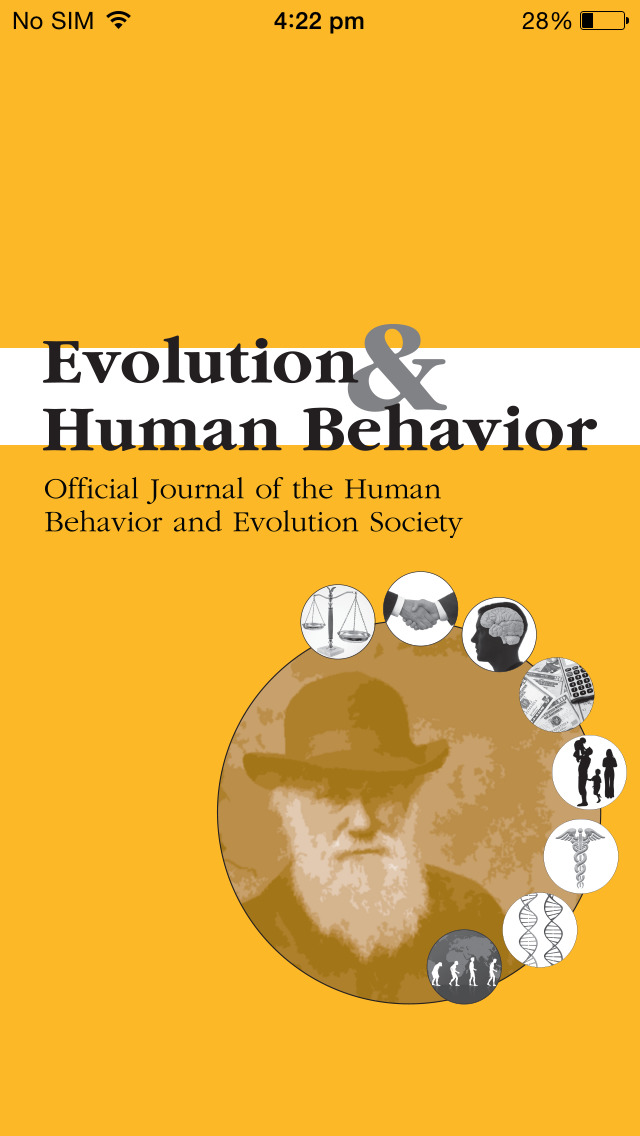 Evolution and Human Behavior screenshot 1