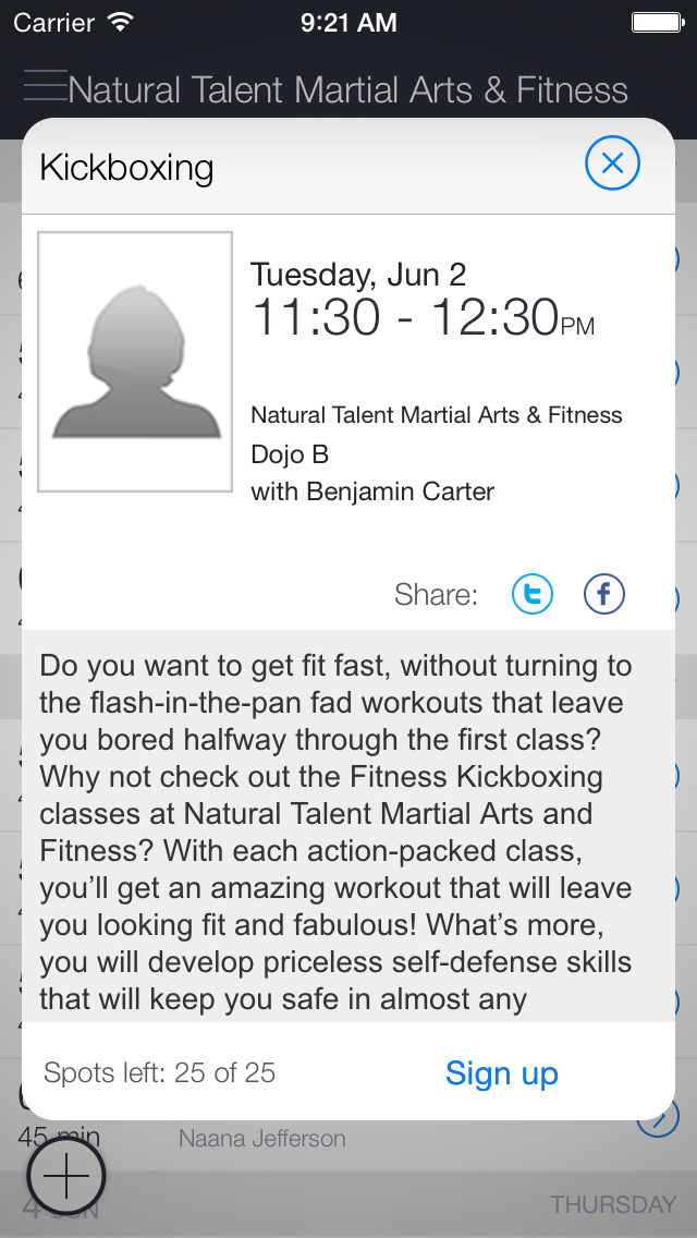 Natural Talent Fitness screenshot 2