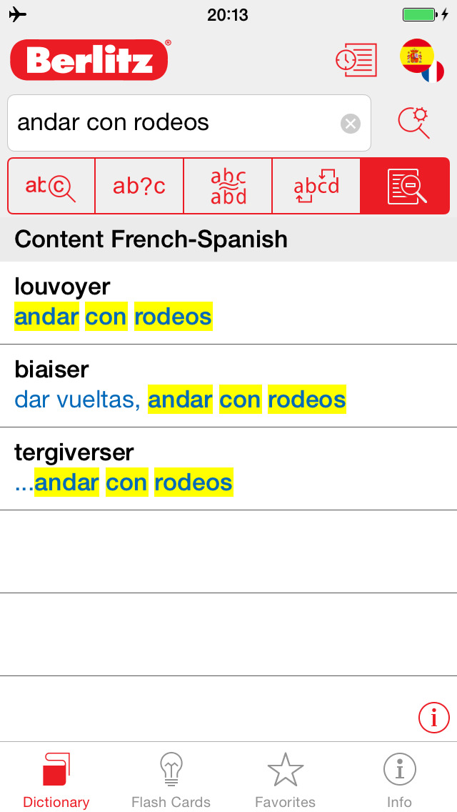 Spanish - French Berlitz Mini Talking Dictionary screenshot 2