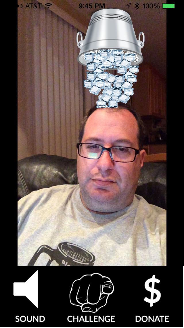 iChallenge: Virtual Ice Bucket Challenge for ALS screenshot 1