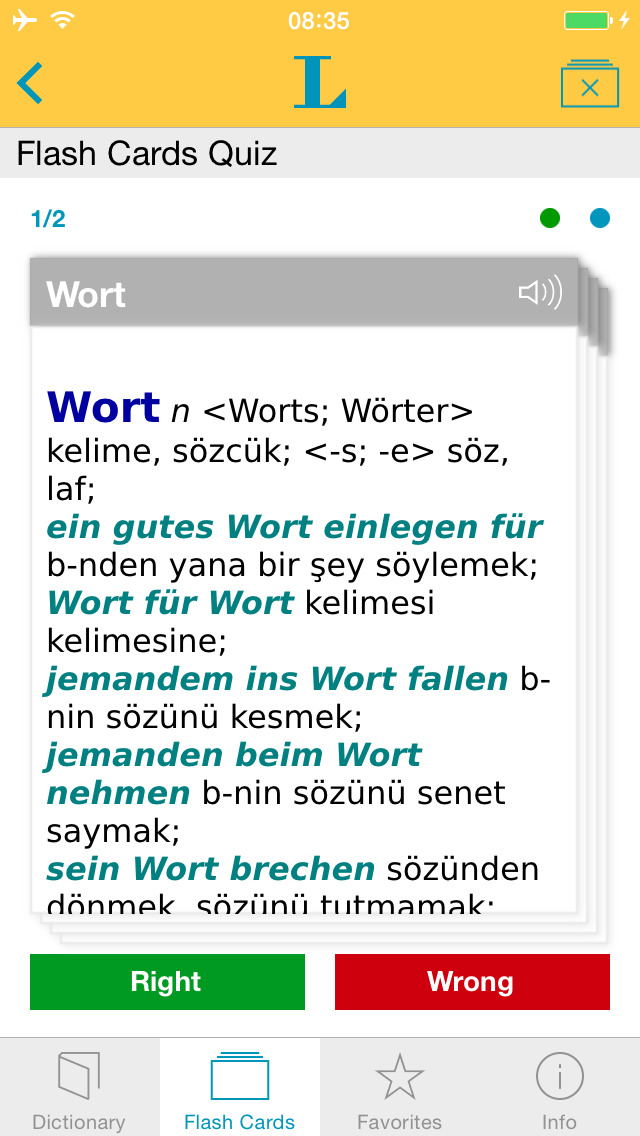 Big German Turkish Dictionary screenshot 3