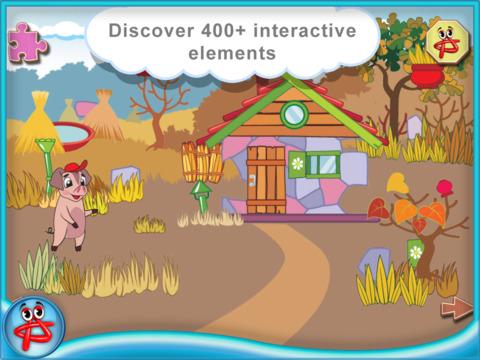 Three Little Pigs: Free Interactive Touch Book screenshot 8