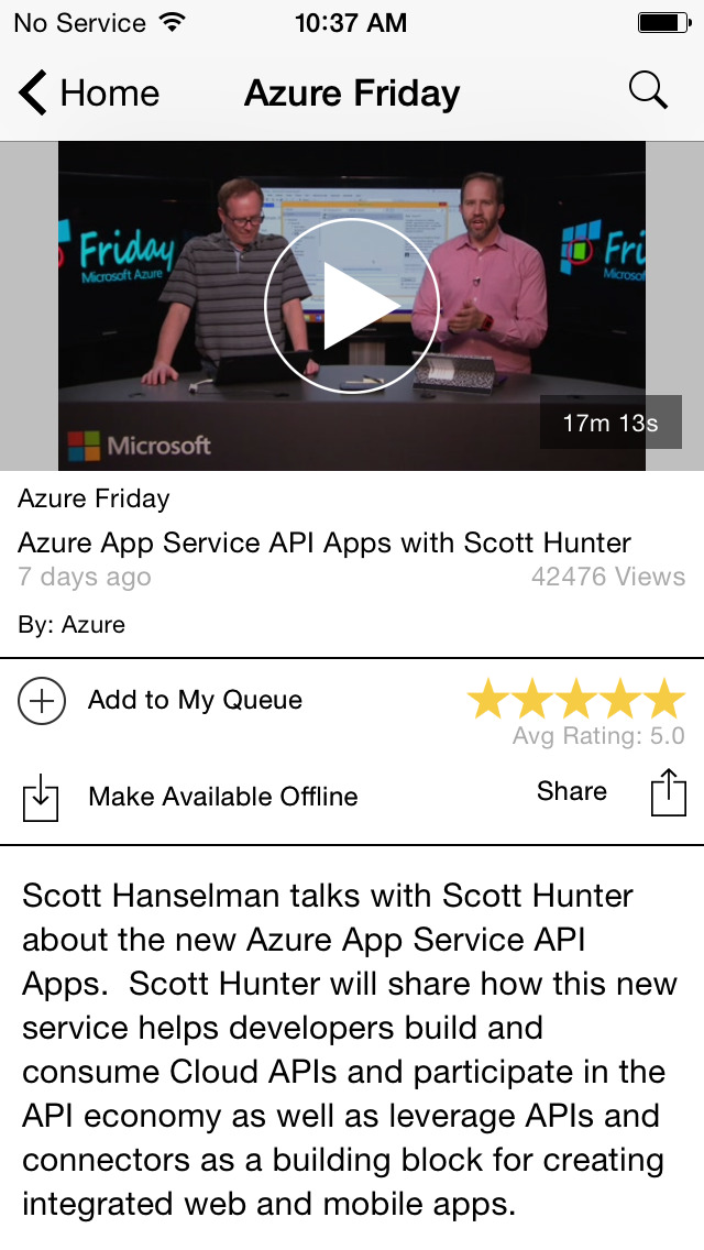 Microsoft Channel 9 screenshot 4