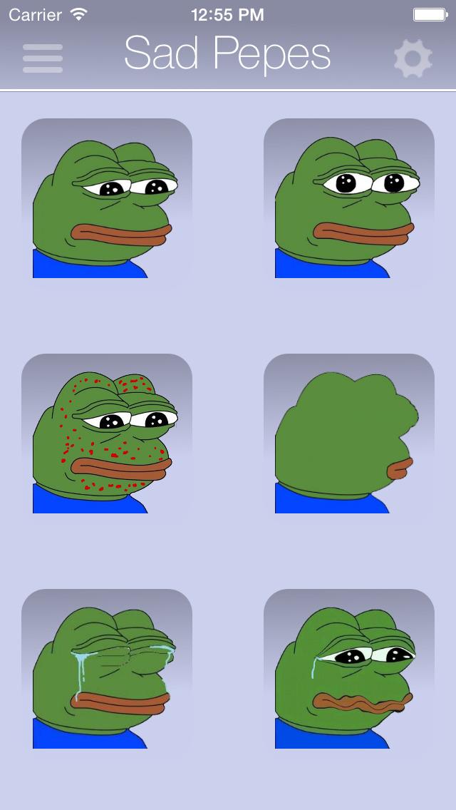 Rare Pepes for SMS (Sad Frog) screenshot 1
