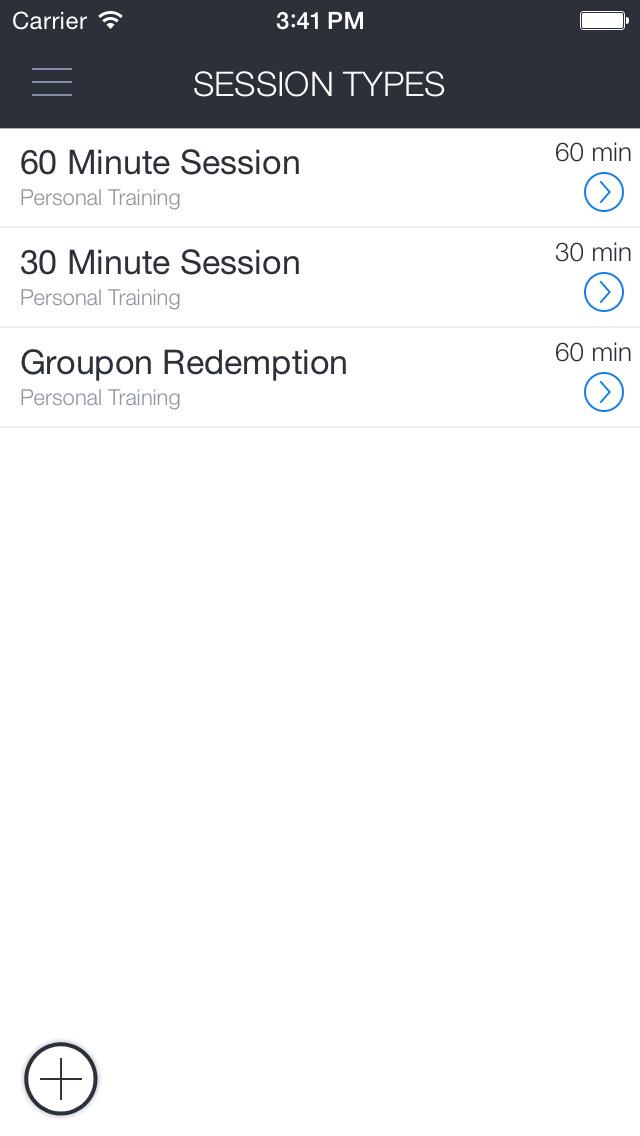 SymmetryFit4Life Scheduling screenshot 1