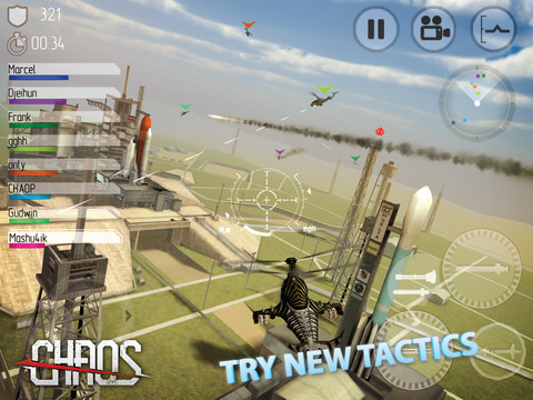 CHAOS Combat Copters -‐ #1 Multiplayer Helicopter Simulator 3D screenshot 7