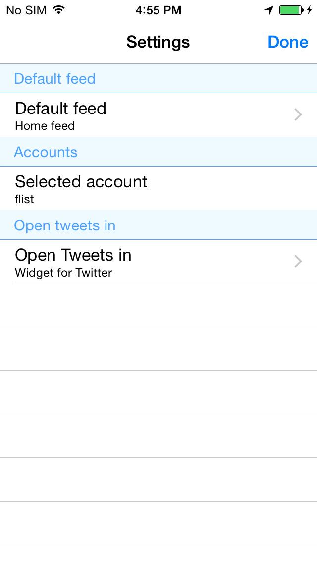 Widget for Twitter screenshot 4