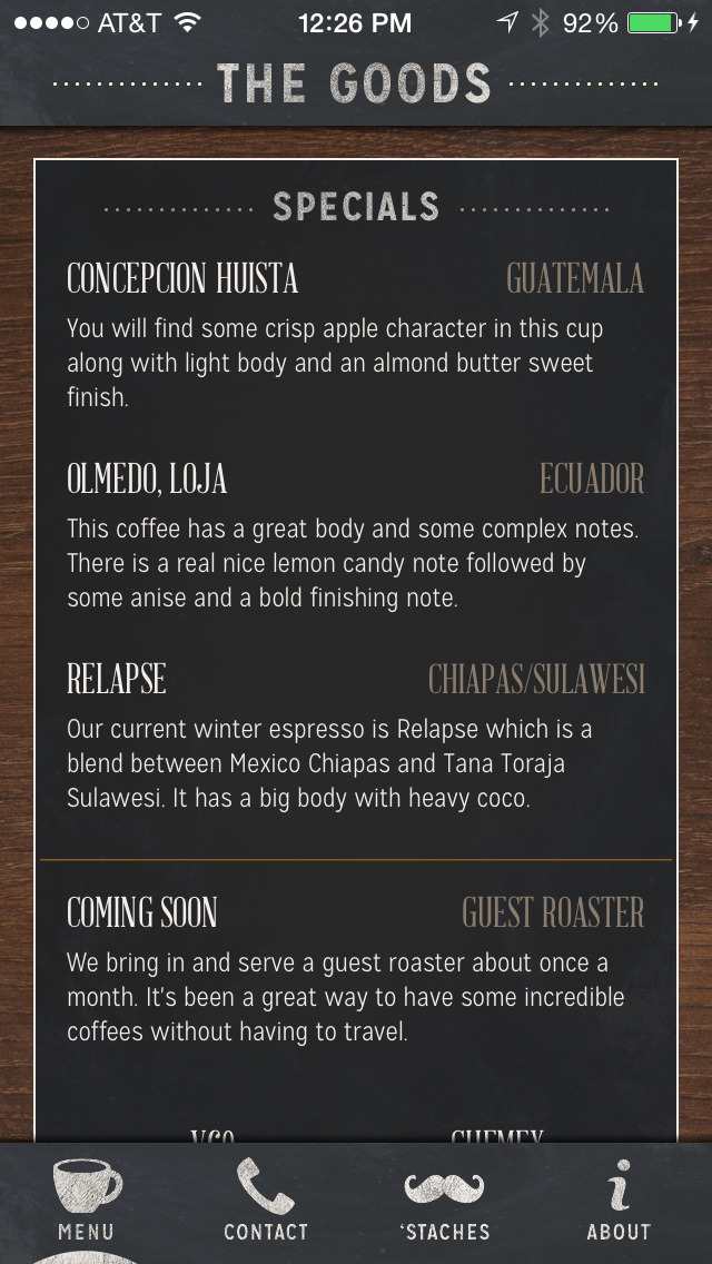 Quay Coffee screenshot 1