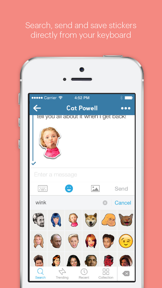 GIPHY Stickers. The Animated Sticker & Emoji App screenshot 2
