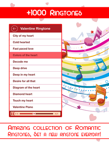 Romantic Card Maker - Love Cards, Romantic Ringtones, SMS & Valentine Countdown screenshot 7