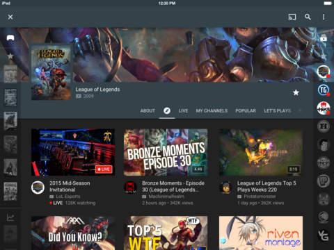YouTube Gaming screenshot 7
