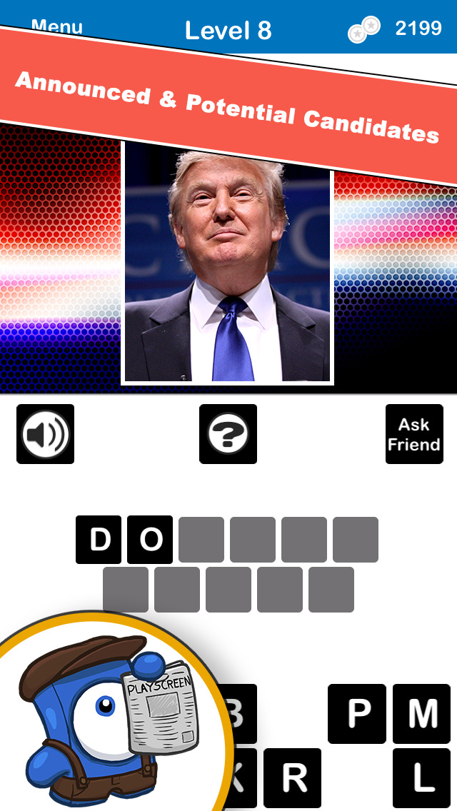 Who's The Candidate? Can you identify who's running for President of the USA? Free screenshot 1