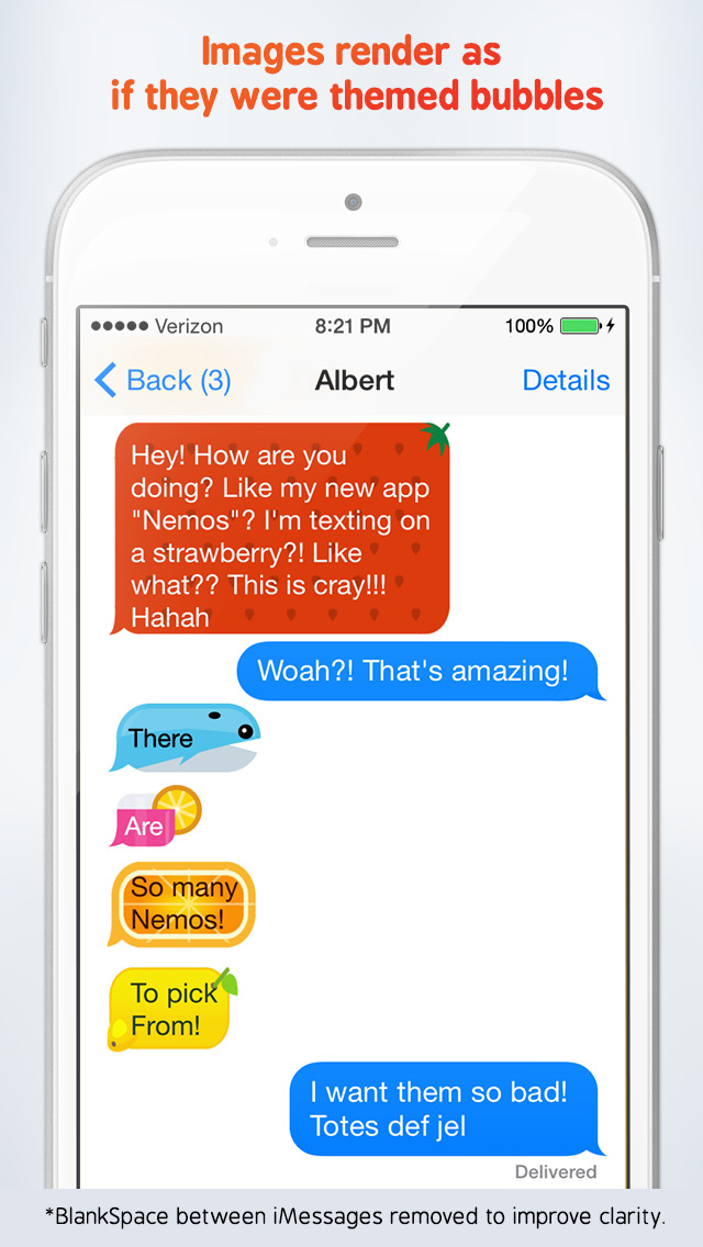 Nemos - Themed Bubble Image Designer for iMessages screenshot 1