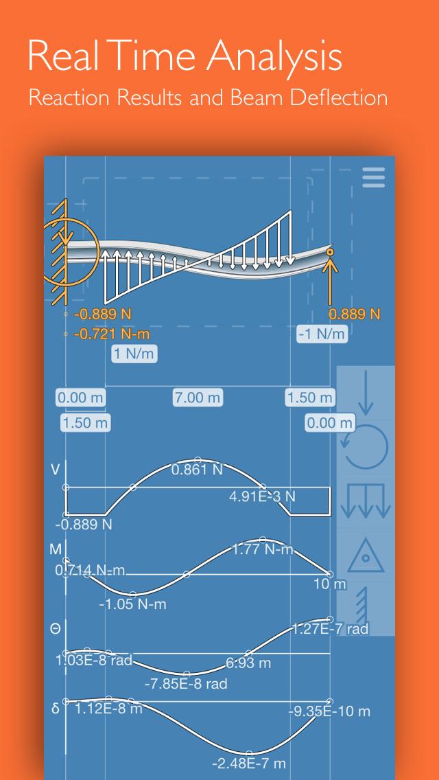 Deflection Beam Calculator screenshot 1