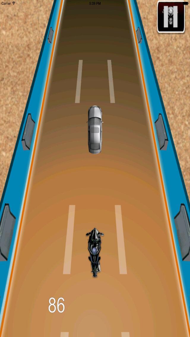 Radiation Fire Bike Pro - Furious One Touch Motorcycle Racing screenshot 3
