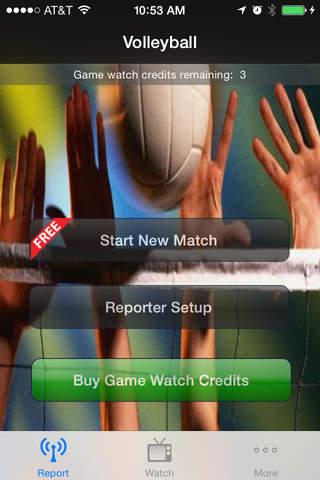 GameReporter Volleyball - náhled