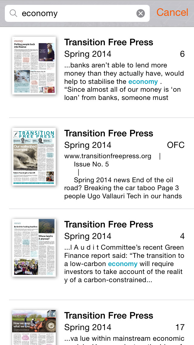 Transition Free Press screenshot 4