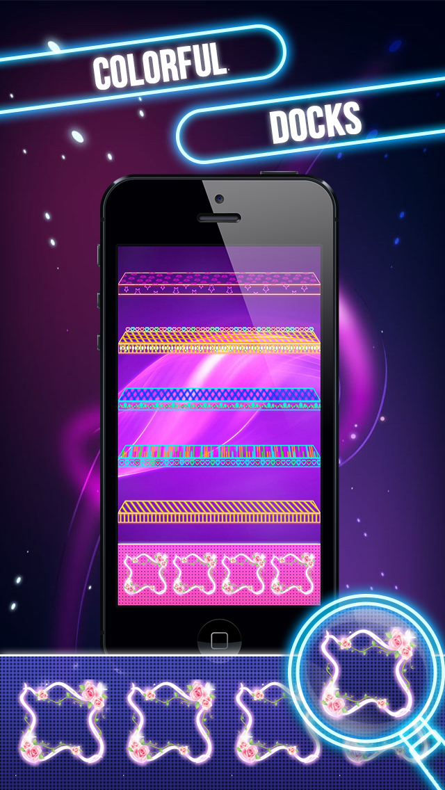 Glow Screen Wallpapers Maker-Icons, Shelves, Docks screenshot 5