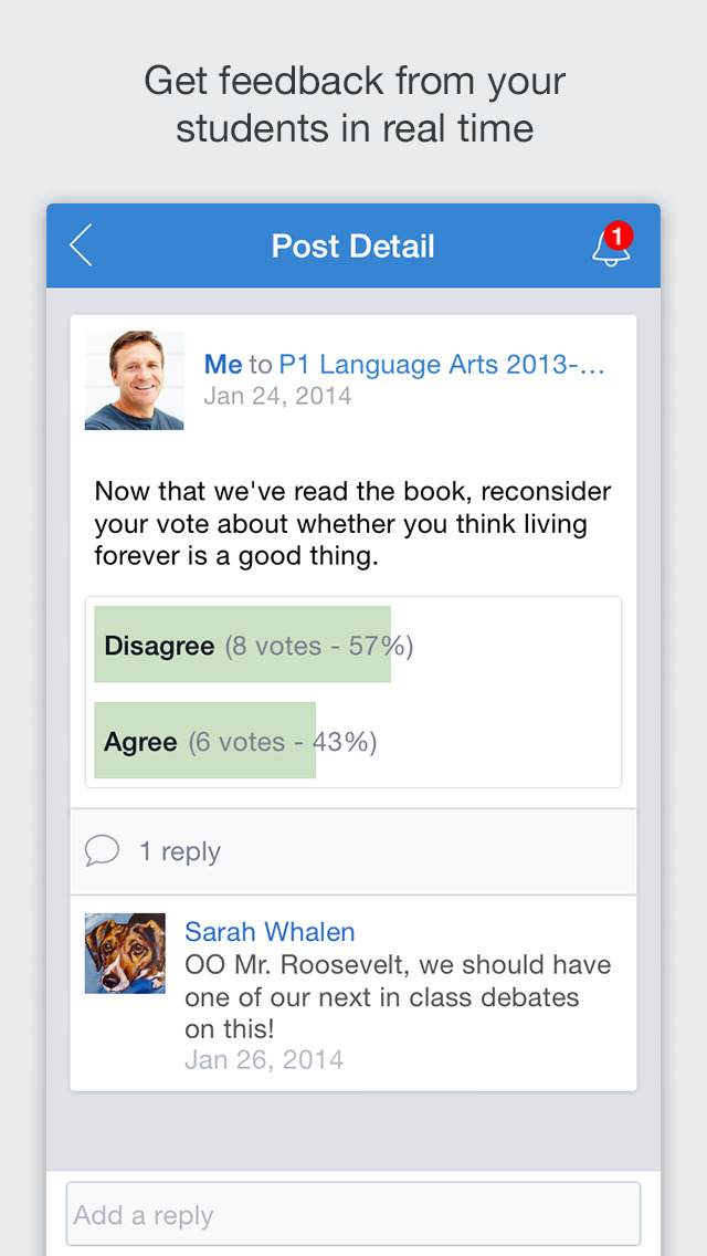 Edmodo screenshot 2