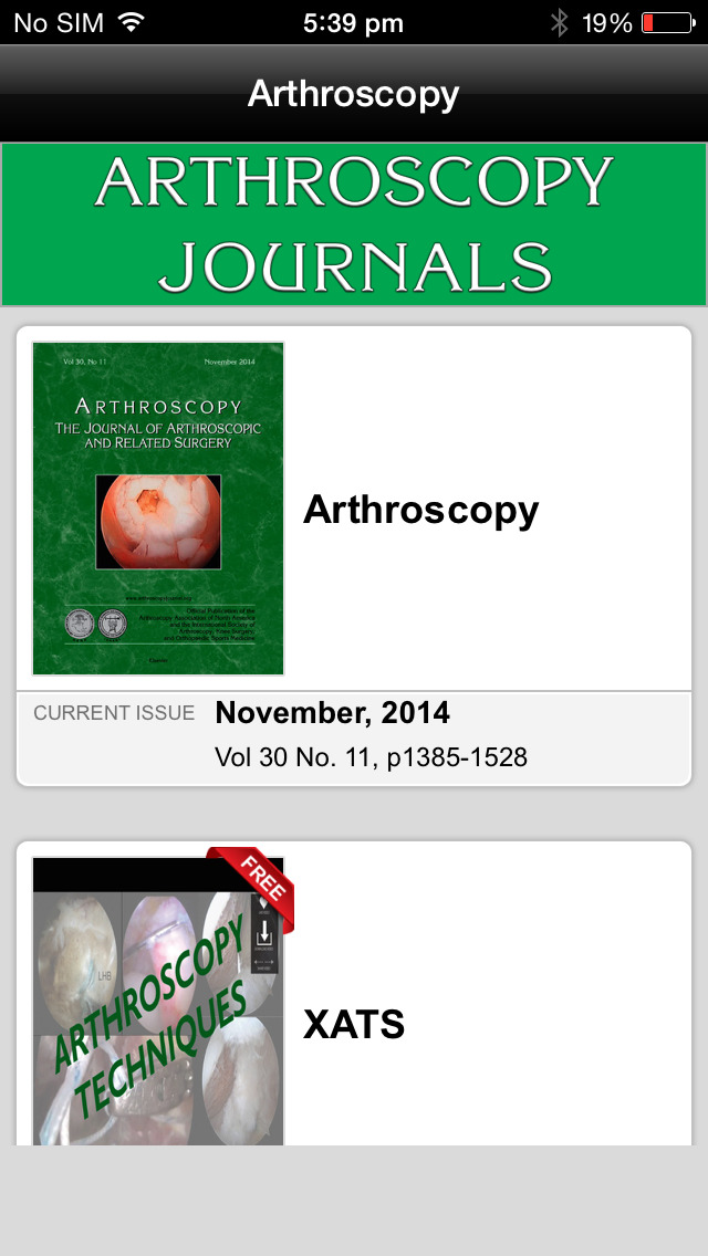 Arthroscopy Journal screenshot 2