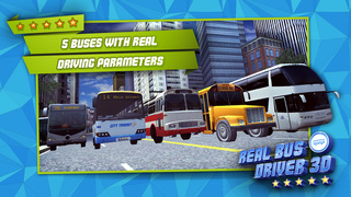 Real Bus Driver 3D - Realistic City Traffic & Car Driving Simulator screenshot 3