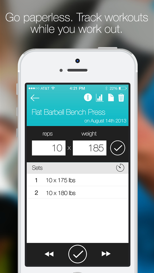 Fitlist - Gym Workout Log screenshot 2