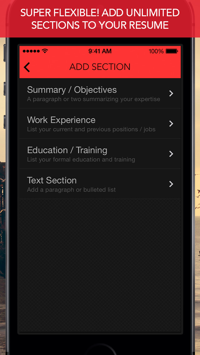 RadResume - Create a Professional Resume screenshot 3