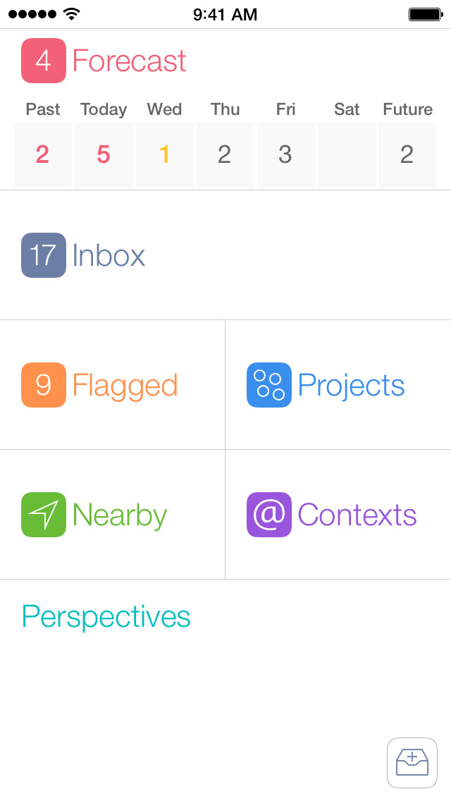 OmniFocus 2 (legacy support edition) screenshot 1