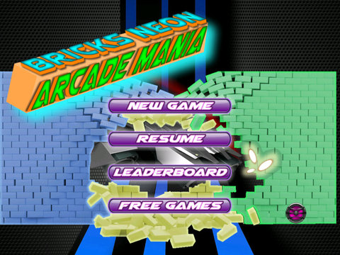 Bricks Neon Arcade Mania Pro screenshot 6