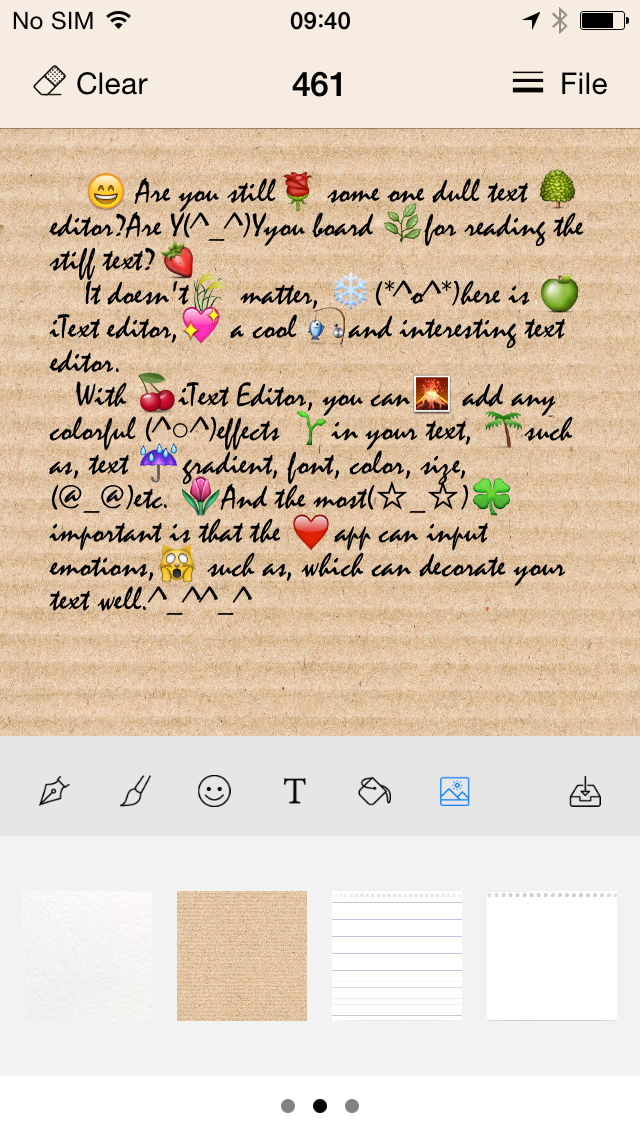 iText Editor HD for text effect, font effect screenshot 2