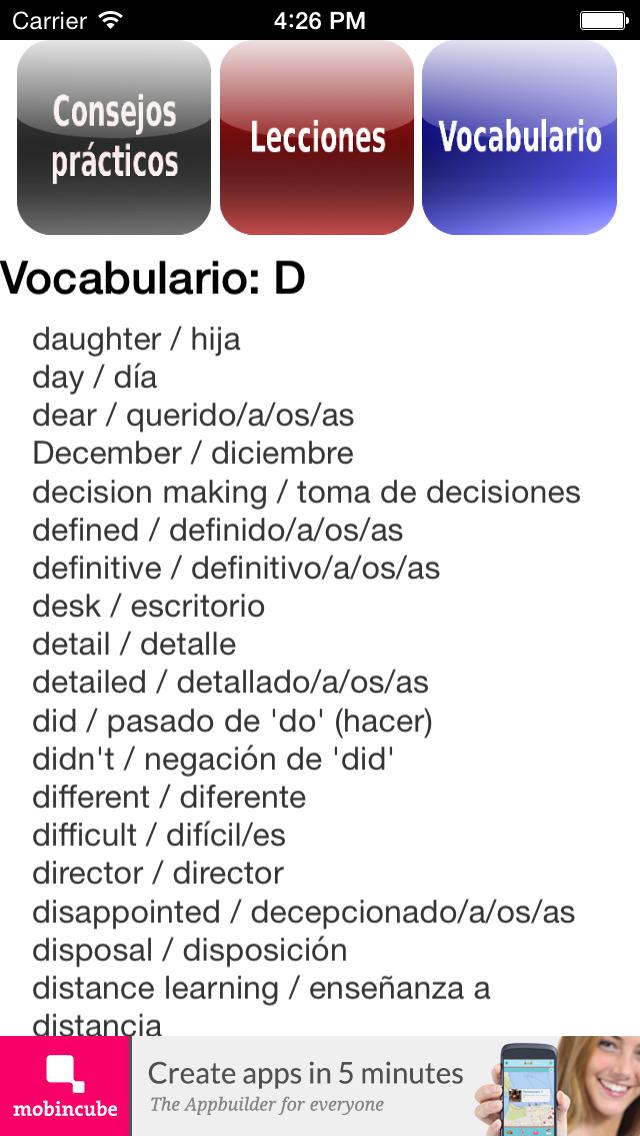 Inglés fundamental screenshot 3