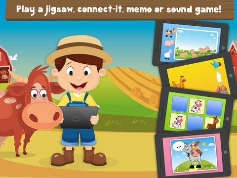 Milo's Mini Games for Tots, Toddlers and Kids of age 3-6 - Barn and Farm Animals Cartoon screenshot 7