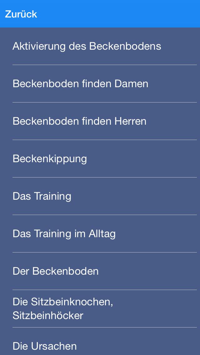 Beckenboden Audio Training screenshot 4