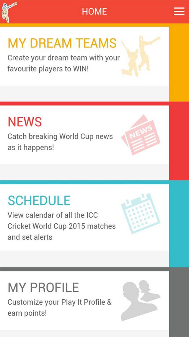 ICC Cricket World Cup 2015 Fantasy Cricket screenshot 1