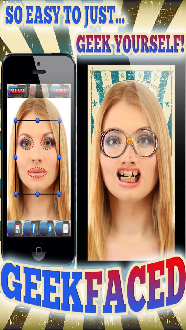 GeekFaced - The Geek & Nerd Photo FX Face Booth screenshot 2