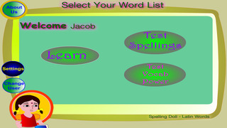 Spelling Doll English Words From Latin Vocabulary Quiz Grammar screenshot 2