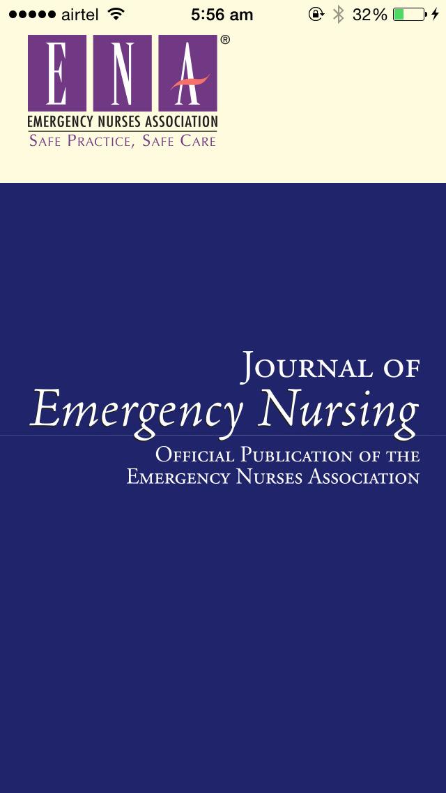 Journal of Emergency Nursing screenshot 1