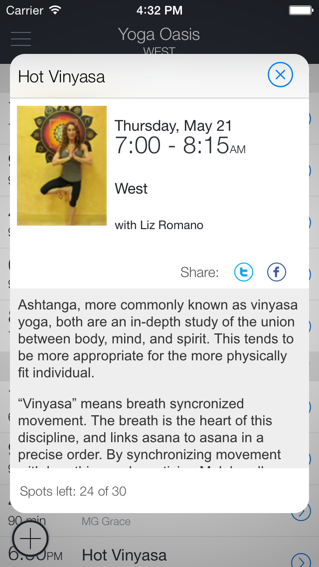 Yoga Oasis app screenshot 2