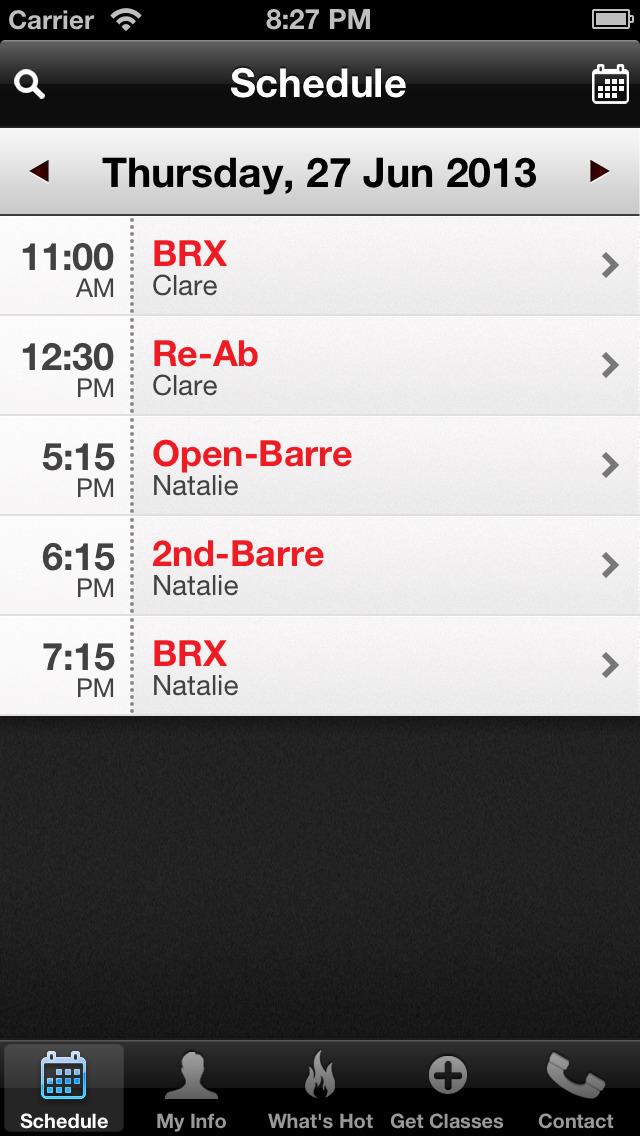 The Barre screenshot #2