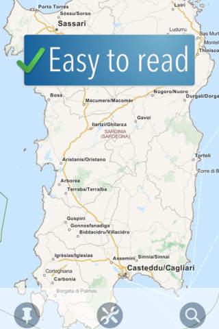 Sardinia Travelmapp - náhled