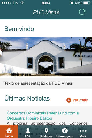 PUC Minas Mobile - náhled