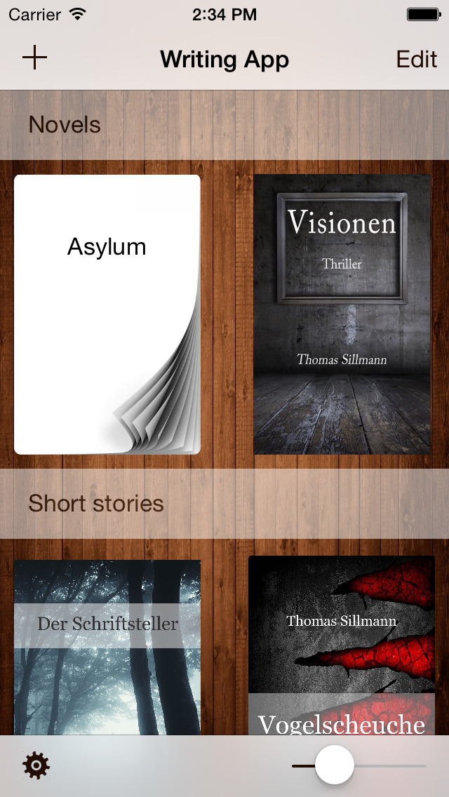 Writing App - Take Notes, Write your Novel or Short Story, be an Author and Writer screenshot 1