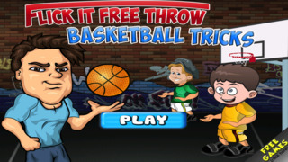 Free Basketball Game Flick It Free Throw Basketball Tricks screenshot 1