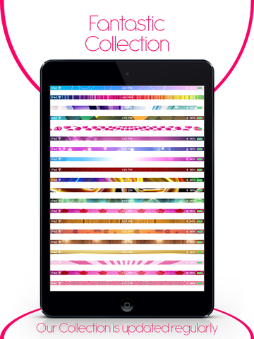 Pimp My Status Bar - Custom Top Bar Wallpapers and Colorful Backgrounds for Home Screen & Lock Screen screenshot 8