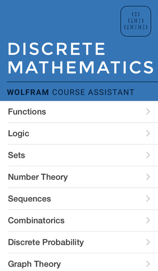 Wolfram Discrete Mathematics Course Assistant screenshot 1