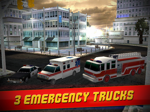 Emergency Simulator 3D - Real Driving and Parking Test Sim - Drive and Park Ambulance, Fire Truck and Police Car screenshot 7