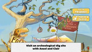 Ansel & Clair: Triassic Dinosaurs - A Fingerprint Network App screenshot 1