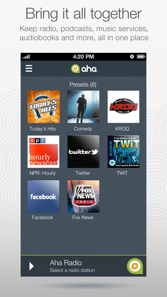 Aha Radio screenshot 2